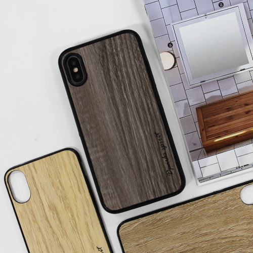 CLASSIC WOOD CASE DARK BROWN - 로고