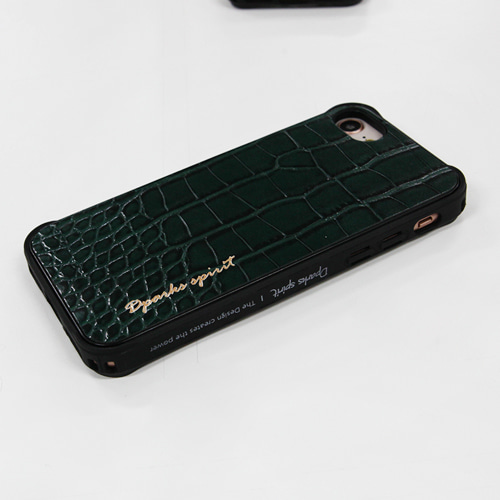 CROCO GLOSS  LEATHER COVER - 그린글로스