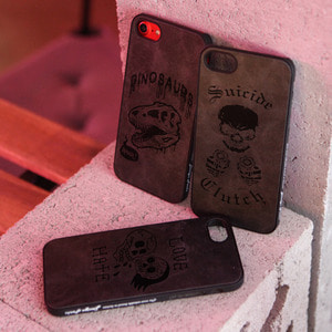 DPARKS SKULL LEATHER CASE