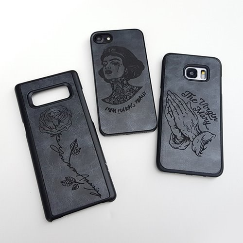 DPARKS BLACK LINE TATTOO LEATHER CASE