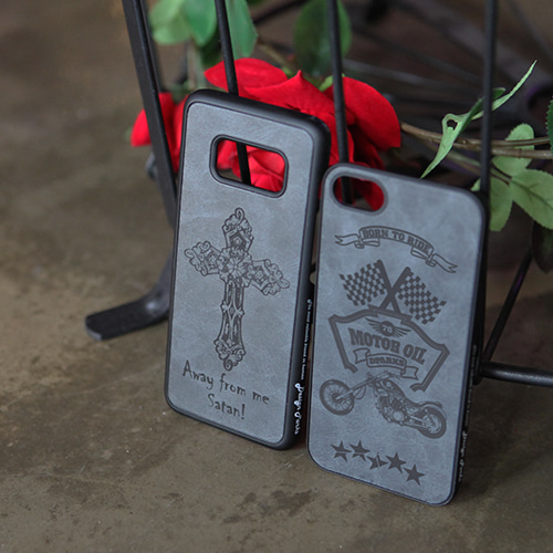 DPARKS BLACK TATTOO LEATHER CASE