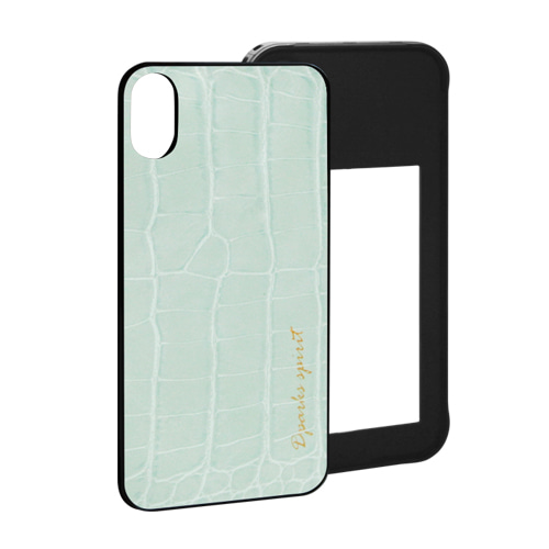 CROCO GLOSS  LEATHER COVER - 민트글로스